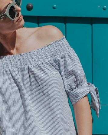 Leichtes Sommerkleid schulterfrei